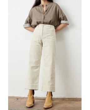 pantalon en a hudson street milk velours sessun
